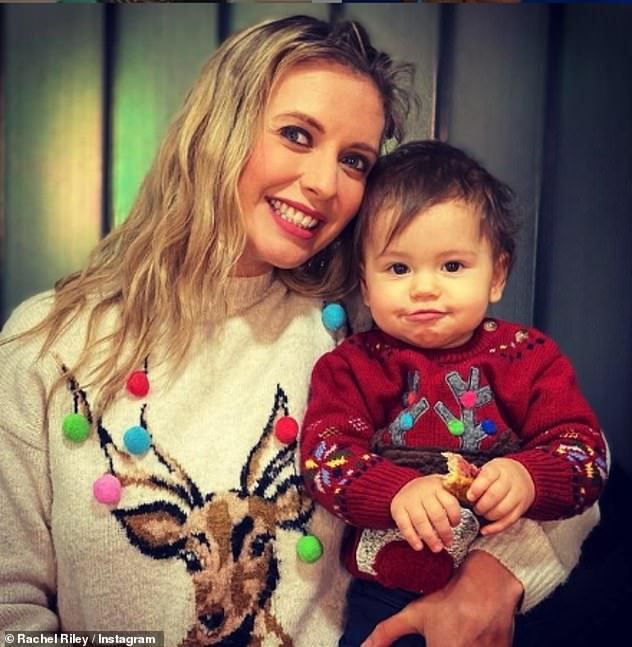 Happy family: The couple welcomed her first child, Maven, 14 months ago (pictured in December)