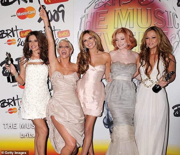 Beloved: The singer is best known as a member of Girls Aloud, who split in 2013 (pictured second left with L-R Cheryl, Nadine, Nicola Roberts andKimberley Walsh in 2009)