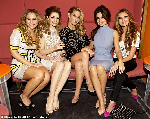 Bond: The singer also discusses reuniting with her bandmates Cheryl Tweedy, Nadine Coyle, Nicola Roberts and Kimberley Walsh at Soho farmhouse recently - but said she felt worried due to losing her eyelashes because of her treatment (pictured 2012)