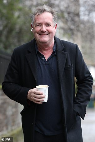 Piers Morgan in West London last Wednesday