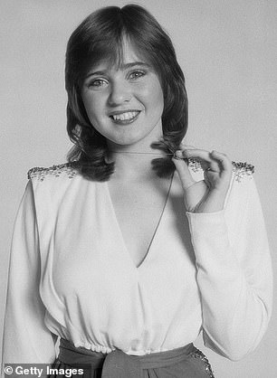 Then: Coleen is pictured in 1980