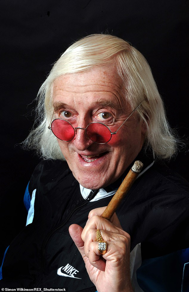 Commenting on a clip from Top Of The Pops featuring Savile, the Loose Women presenter, 56, told Piers: 'You know when it came out about Jimmy Savile I wasn't in any way shocked, thinking about it' [Savile is pictured in 2006]