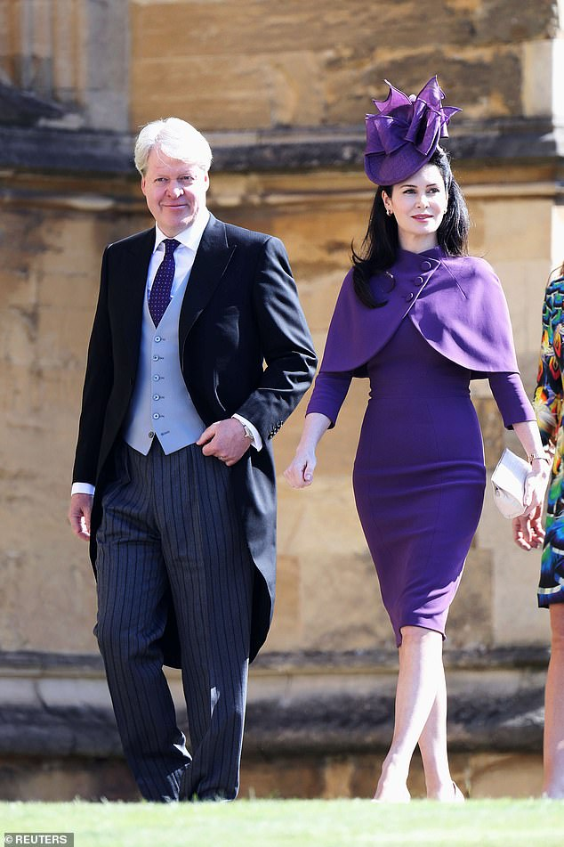 Charles, Earl Spencer,has been married three times, firstly to Victoria Lockwood, thensecond wife Caroline Freud and lastly to Karen Spencer (pictured in 2018)