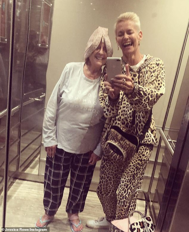 Girls gone wild! Jessica Rowe and Denise Drysdale had an impromptu pyjama party in a hotel elevator on Thursday, sharing their madness to Instagram