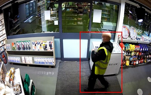 The jurors were shown pictures of Robson stopping off on his way from Glasgow