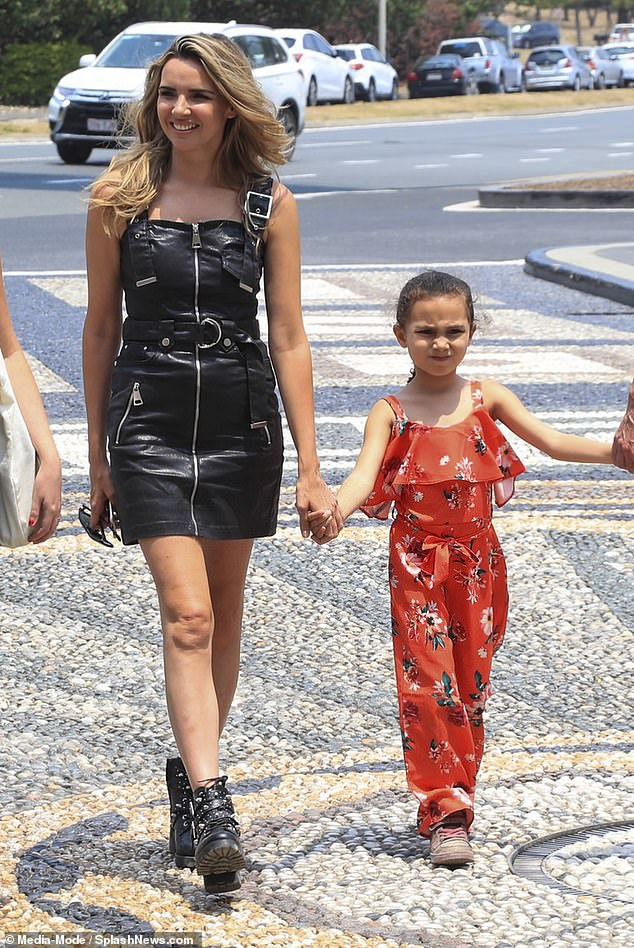 How times have changed: 'I was saying how we never thought Nadine [Coyle] would be the first one of us to have a child, and that now three of them have kids' wrote Sarah (Nadine pictured with daughter Anaiya)