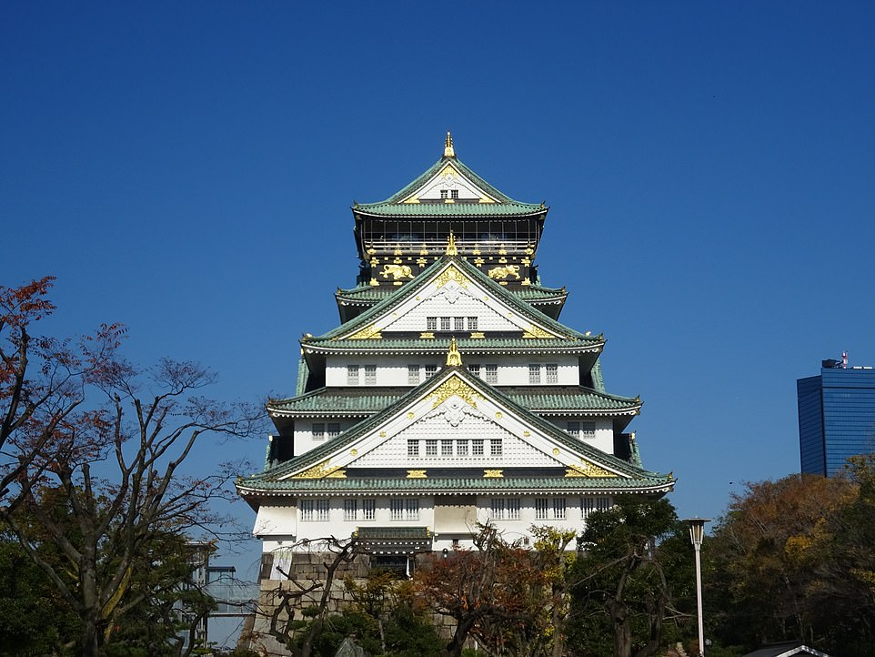 The fourth most beautiful building in the world - Osaka Castle in Japan. It aligns to the golden ratio by 70.38 per cent