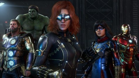 Patriotic Man, The Green One, Agent Catsuit, Thunder Muscles, and the others in alternative games \u2014 all look close to their movie versions, but not so close for royalties to be paid