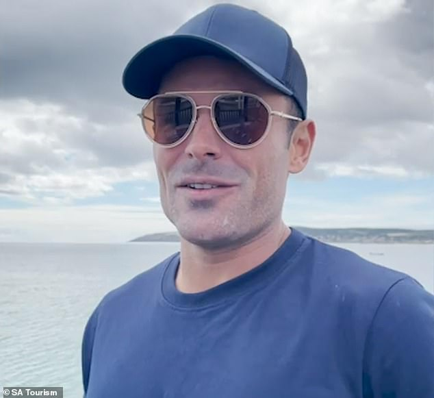 'What a gem of a place': Zac Efron (pictured) raved about South Australia's Kangaroo Island after filming part of his Netflix series Down To Earth.In a clip shared on Adelaide Now, he spoke fondly of destination, saying: 'All of it is just amazing, it's a beautiful island'