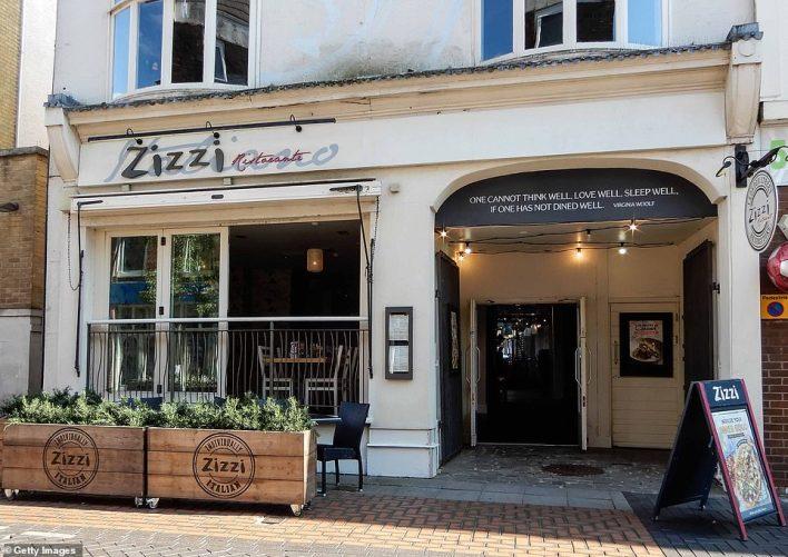 Zizzi and ASK italian closed all 308 restaurants. The Front entrance to Zizzi Italian Restaurant in London Street, Basingstoke