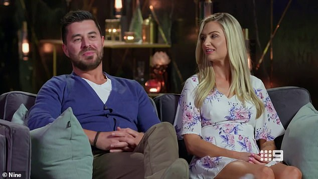 Awkward:u00A0Last week, groom James Susler stunned the other couples on the show when he professed his love for Alessandra during a commitment ceremony