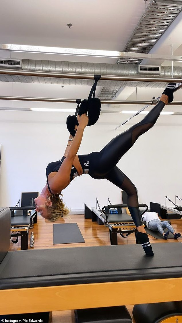 Fit as a fiddle! Pip's super toned figure is all thanks to her regular Pilates sessions