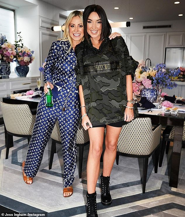 Ties:u00A0Roxy Jacenko (right) was one of the guests at the engagement party but it's unlikely she was at the wedding.u00A0The Sydney socialites, who once considered themselves 'sisters', are believed to have recently fallen out and have even unfollowed each other on Instagram
