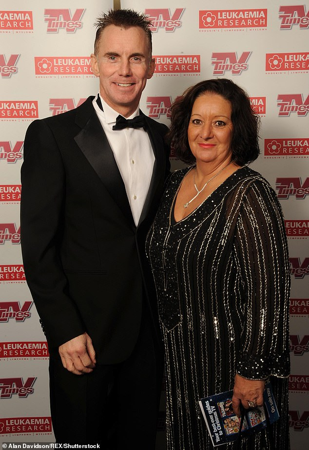 Generous:u00A0The celebrity chef, who died aged 59 after suffering a seizure from a bleed on the brain, allegedly left his entire fortune to his wife of 30 years Jennie (pictured 2008)