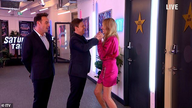 Contact: When Cat appeared on the show she clasped hands with Dec and appeared to go to hug him