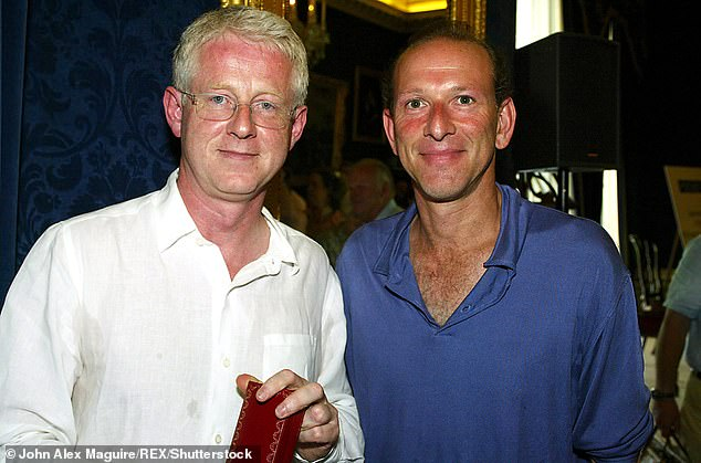 But evidence now suggests he was inspired by William Sieghart (right with Curtis), an old Etonian who became friends with Curtis when they were both students at Oxford.