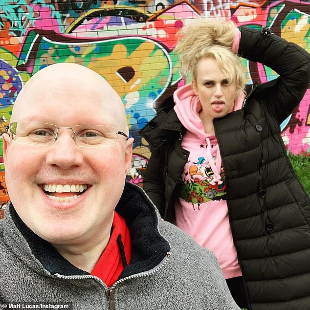 Reconnecting:u00A0The actors, who played warring sibling roommates in the 2011 comedy film Bridesmaids, posted photos of themselves wandering the graffiti-covered streets of London together