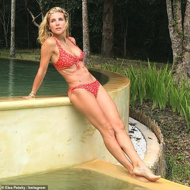 So that's how she does it! Elsa Pataky, 44, (pictured) has revealed exactly how she maintains her age-defying figure on Sunday