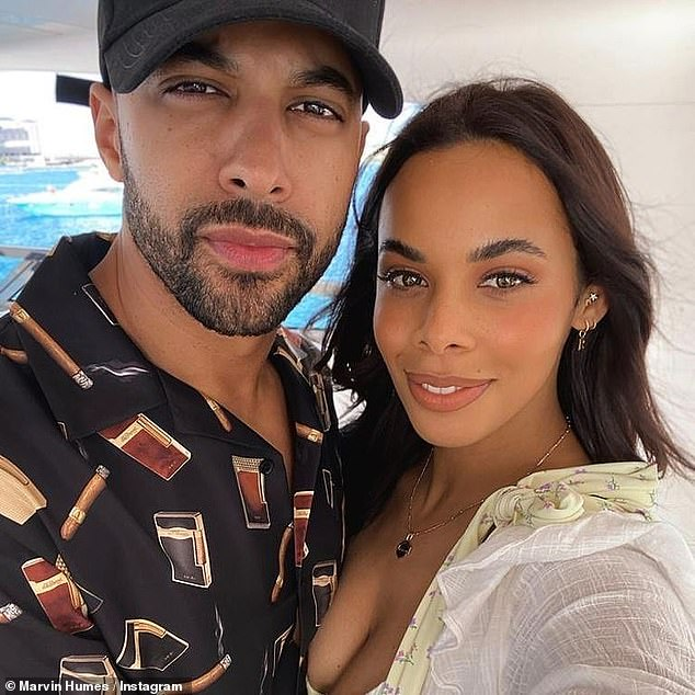 'Everything is better with you': Marvin Humes couldn't wait to show his affection for his beloved wife Rochelle when he took to Instagram to wish her a happy 32nd birthday on Sunday