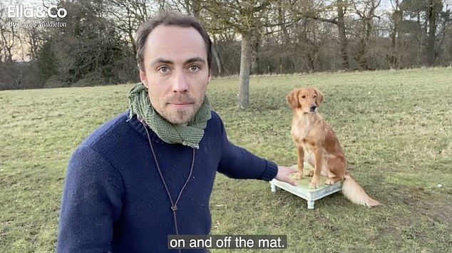 The Duchess of Cambridge's brother, 33, shared his top tips for teaching a dog to learn commands as part of a series of training videos for his health company for dogs, Ella and Co