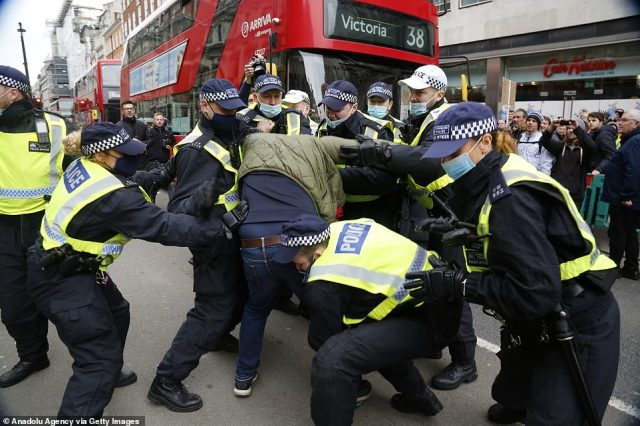 Referring to the protests planned for this weekend, Deputy Assistant Commissioner Laurence Taylor, said: 'The Met is committed to working with groups who wish to assemble to protest or for other purposes'