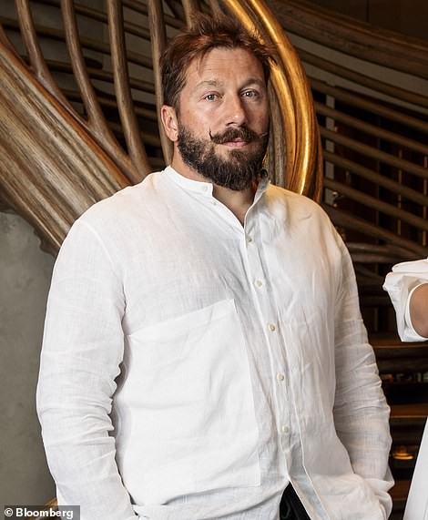 Evgenyu00A0Chichvarkin (pictured), 46, founded Russia's largest mobile phone company, Yevroset and is believed to have paid for Alexei Navalny's medical bills after he was poisoned with a nerve agent last year and treated in a hospital in Germany
