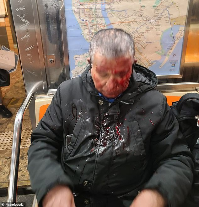Narayange Bodhi, originally from Sri Lanka, was commuting to his job as a security guard at 2.40pm on Friday when the attacker viciously punched him on a 1 Train in Lower Manhattan