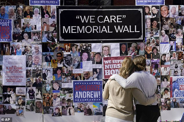 Relatives of those who died of COVID-19 in New York nursing homes gathered on Sunday