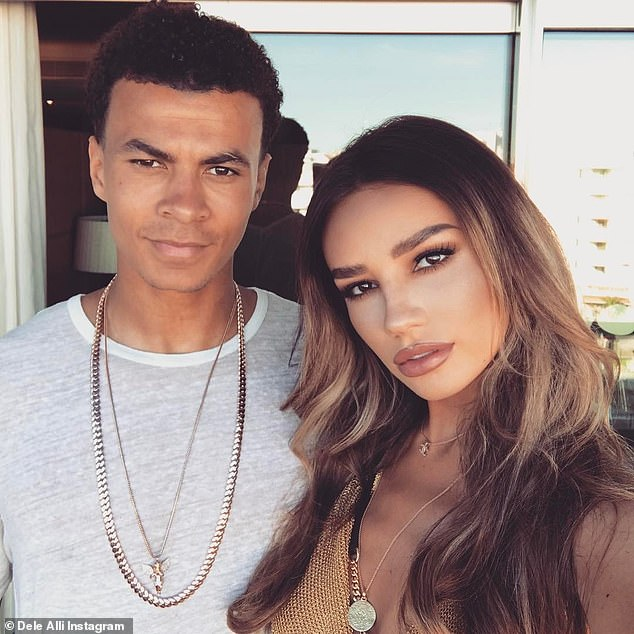 Split: It comes after it was claimed that Dele was left 'gutted' over his split from his model girlfriend of five years Ruby Mae and has been looking for love on celebrity dating app Raya