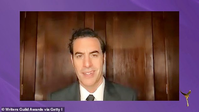 Sacha wins:u00A0Sacha Baron Cohen and his team of writers Anthony Hines & Dan Swimer & Peter Baynham & Erica Rivinoja & Dan Mazer & Jena Friedman & Lee Kern took home Best Adapted Screenplay for Borat 2, while Ted Lasso took home two TV awards