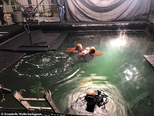 'Underwater stunts': Last Thursday, the British 36-year-old wrapped her role in Floria Sigismondi's LGBT drama The Silence of Mercy, which shot in Ireland (pictured last Monday)