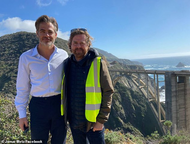 'It's a wrap!'u00A0On March 14, Chris wrapped his role as CIA operative Henry Pelham on the Carmel-by-the-Sea set of Janus Metz's (R) film All the Old Knives