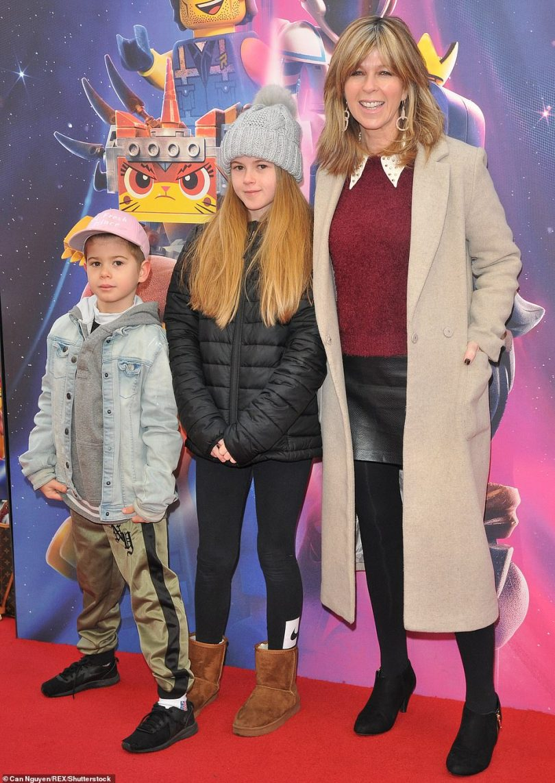 Sad: Kate – who shares Darcey, 15, and William, 11, (pictured in 2019) with her husband of 15 years – admitted it is 'shocking' to see his current state, including his eight stone weight loss