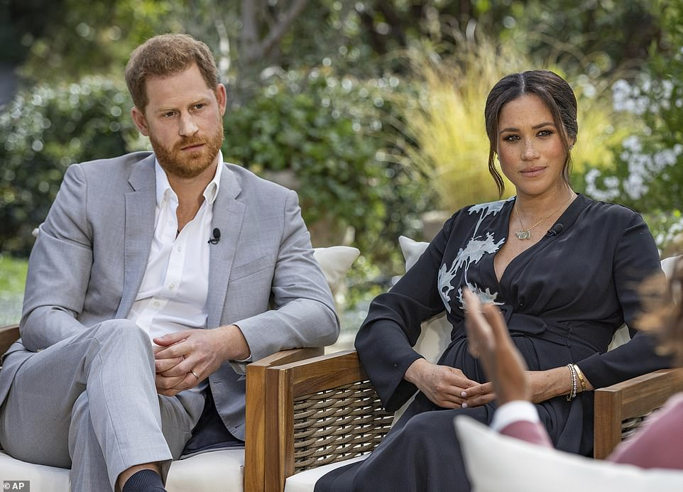 Harry's told Oprah that he has been forced to seek corporate work after his father Prince Charles 'cut him off' financially after they emigrated to Canada and then on to LA