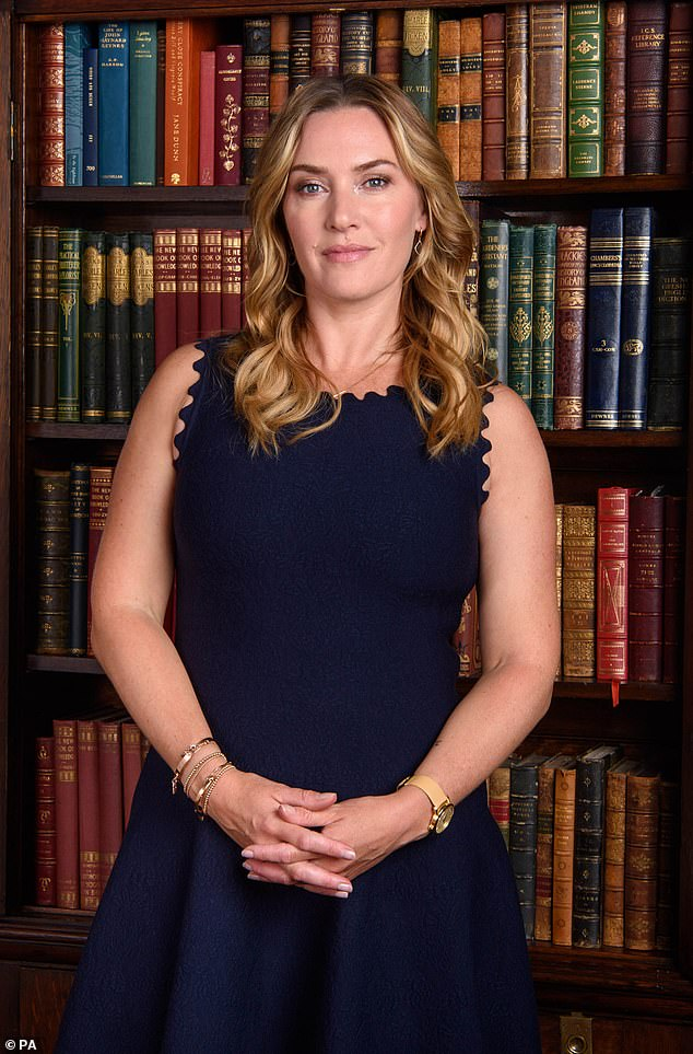Uncovered:Kate Winslet revealed on Saturday that she has become an avid fossil hunter after working with a palaeontologist while preparing for her new film Ammonite (pictured in 2018)