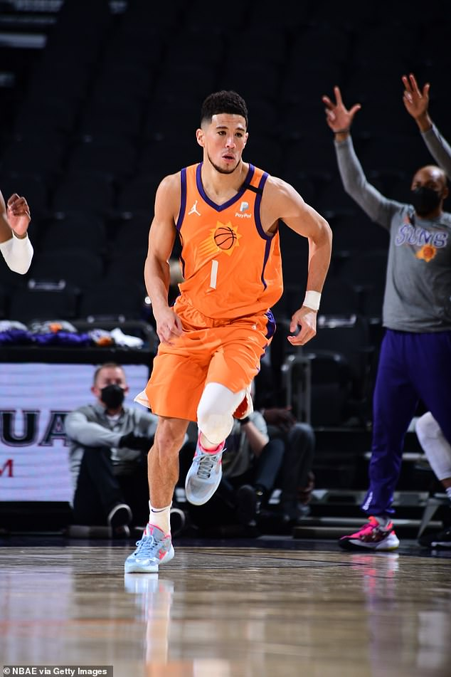 Marriage in the works?Jenner has been dating basketball star Devin Booker. The model has been romantically linked to the NBA star since April last year, but the pair didn't make their romance Instagram official until Valentine's Day and insiders admitted their bond has gone from 'fun hook-up' to genuine relationship. Seen March 19