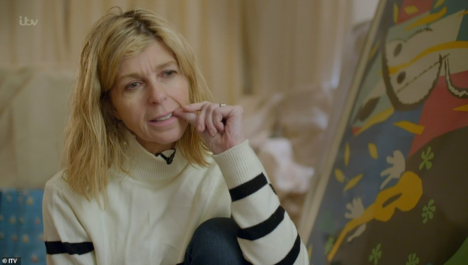 Emotional: Kate Garraway admitted that she might have to 'fall in love again' with Derek Draper while she later comforted her sobbing husband who said he wanted to 'die' during her emotional documentary Finding Derek