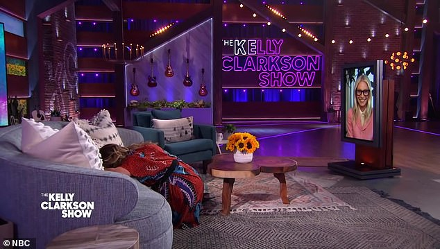 Hysterics: Paltrow's response prompted Kelly to fall off the couch and bury her head in the cushions with uproarious laughter