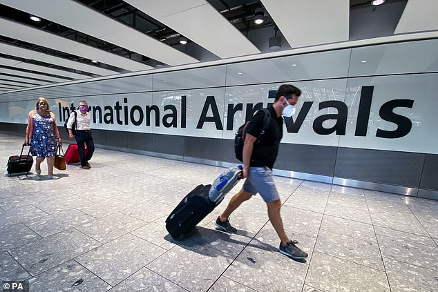 Boris Johnson is facing growing calls from his top scientists to insulate Britain from emerging variants by strengthening border controls (Heathrow pictured)