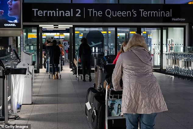 London (pictured, Heathrow in December) and Washington are discussing a bilateral safe travel scheme after May, the CEO of The PC Agency Paul Charles said