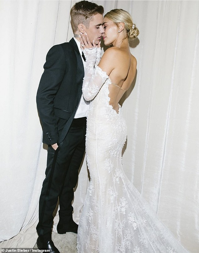 His and hers: Hailey and Justin, who met when they were just kids, celebrated two years of wedded bliss on Sept. 13