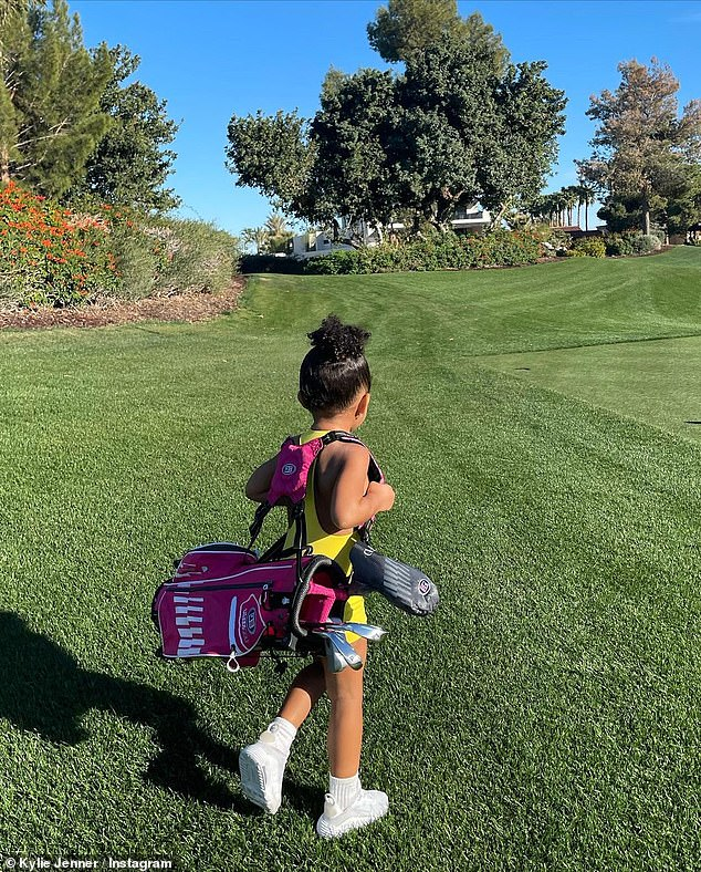 Bonding:One of the shots was taken during a recent mother-daughter lunch date, while another was taken during the pair's time of the golf course earlier this month