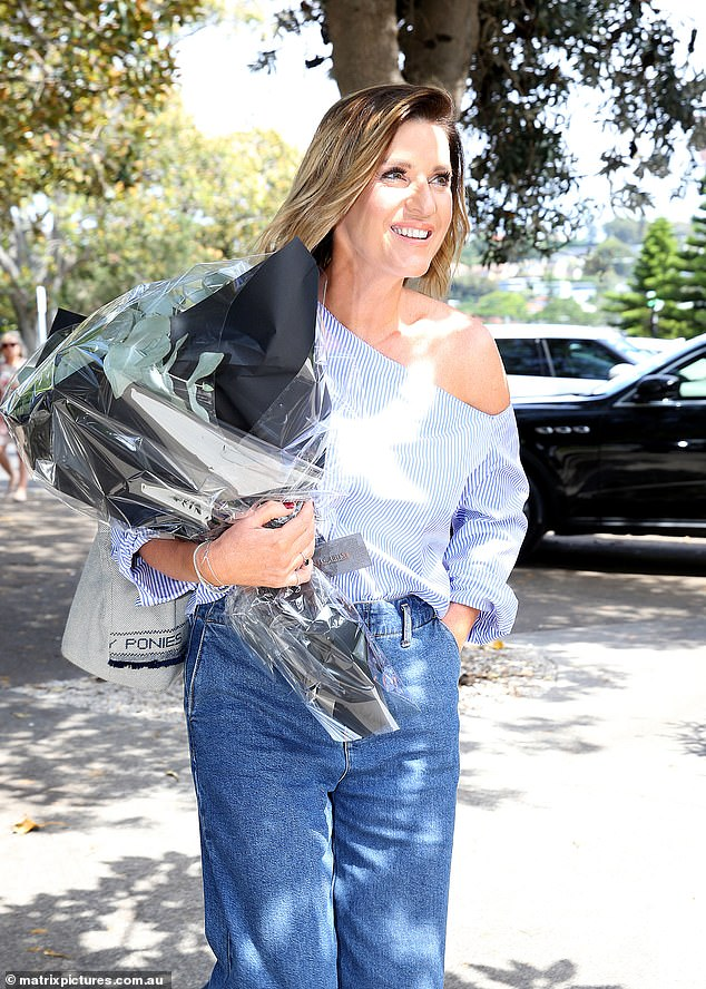 Familiar face: Among those at the exclusive luncheon was Samantha's husband of almost three months, Richard Lavender, who she arrived with hand-in-hand. The Morning Show's Kylie Gillies was also in attendance, along with Sunrise's executive producer, Michael Pell