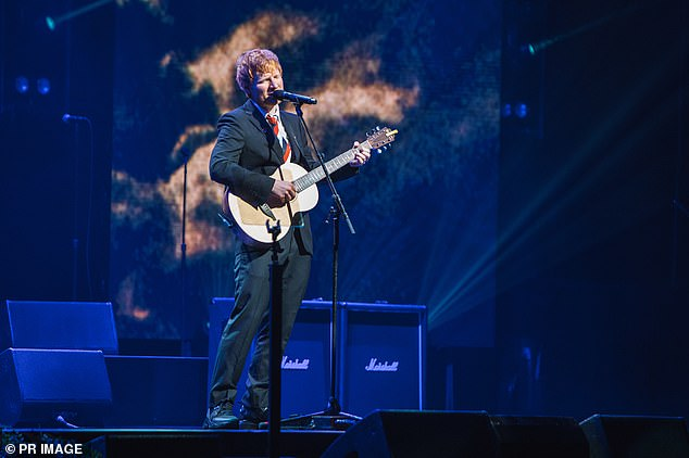 Emotional: Ed Sheeran sang Castle on the Hill and later broke down in tears as he performed a new song, Visiting Hours, which is about his daughter, Lyra