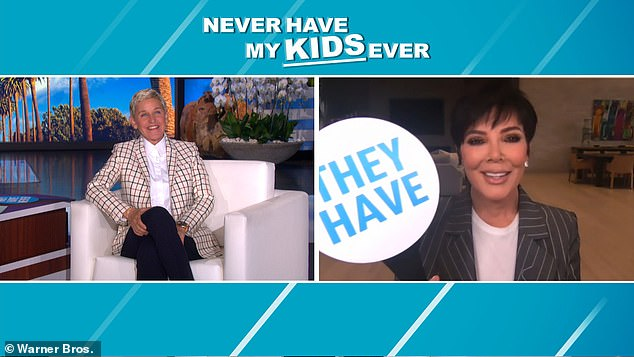 During a game of 'Never Have My Kids Ever,' Kris revealed she has matching cross tattoos with Khloé, which is located 'on my booty'
