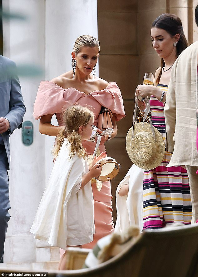VIP guest: Kate appeared to have been a part of the bridal party, and shared a series of videos and photos from before the ceremony on Instagram Stories on Thursday