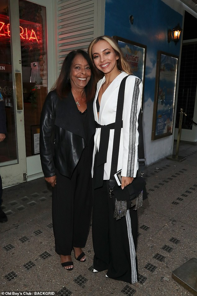 Family: The Little Mix's singer's granddad Mohammed was from Aden in Yemen, before he moved to South Shields in 1943 (Jade pictured with her mother Norma in 2019)