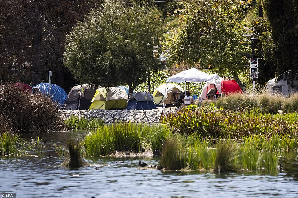 Opinion: Stop Wasting Tax Dollars on Homeless Drug Addicts-Echo Park Lake Protests 3/25/21