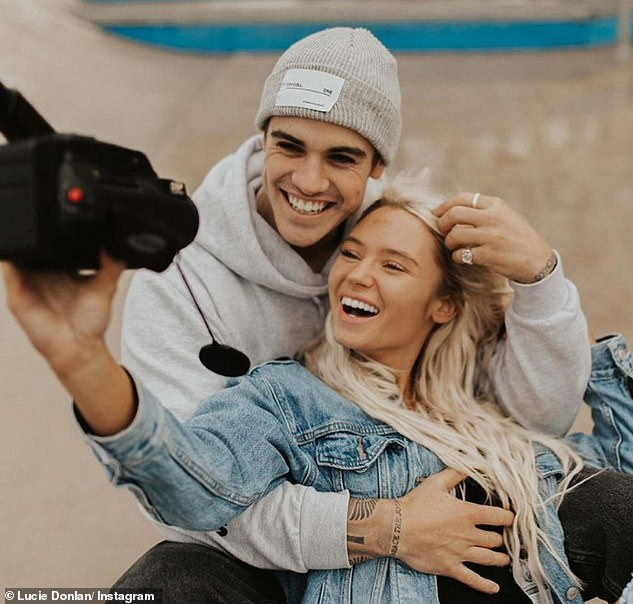 Besotted: The TV personality was loved with Luke for eight months after going public with their relationship last summer