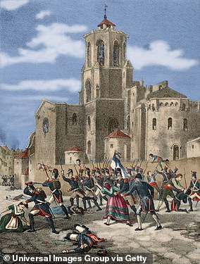 In 1813, Duke of Wellington ordered Murray to use 16,000 troops to capture the Spanish port of Tarragona (the battle, pictured)